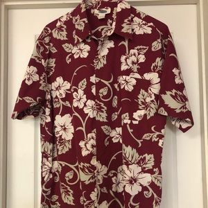 Old navy tropical themed men's shirt